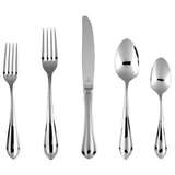 Fortessa Forge 18/10 Stainless Steel Flatware 20 Piece Place Setting, Service for 4