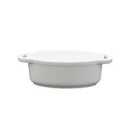 Fortessa Fortaluxe SuperWhite Vitrified China Dinnerware, Basics Collection Oval Cassoulet, 4.5-Inch, Set of 6