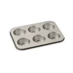 Cuisinart AMB-6JMPCH Chef's Classic Nonstick Bakeware 6-Cup Jumbo Muffin Pan, Champagne