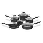 Cuisinart 55-11BK Advantage Nonstick 11-Piece Cookware Set, Black