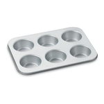 Cuisinart AMB-6JMP Chef's Classic Nonstick Bakeware 6-Cup Jumbo Muffin Pan, Silver