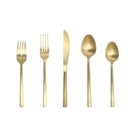 Fortessa Arezzo Brushed Gold 5 Piece Place Setting Boxed