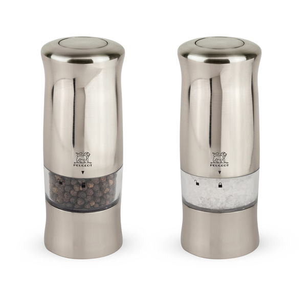 "Peugeot 2/28480 Zeli Duo Pepper and Salt Mill, 5-1/2"" Brushed Chrome"