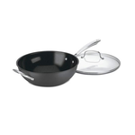 Cuisinart GG26-30H GreenGourmet Hard-Anodized Nonstick Stir-Fry Wok with Glass Cover