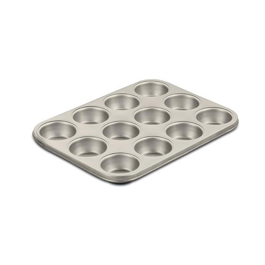 Cuisinart AMB-12MPCH Chef's Classic Nonstick Bakeware 12-Cup Muffin Pan, Champagne