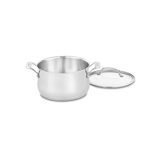 Cuisinart 445-22 Contour Stainless 5-Quart Dutch Oven with Glass Cover