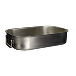 Paderno World Cuisine Stainless-steel Heavy Roasting Pan with Folding Handles