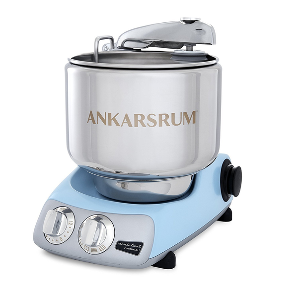 Ankarsrum Original 6230 Pearl Blue and Stainless Steel 7 Liter Stand Mixer