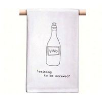 "CorkPops 77720 ""Waiting To Be Screwed"" Bar Towel"