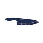 "Komachi AB5076 8"" Chef's Knife With Sheath, Navy"