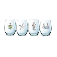 CorkPops 32320 Assortments - Coastal Creatures, 3 Seahorse, 3 Blue Crab, 3 Turtle, 3 Starfish, stemless
