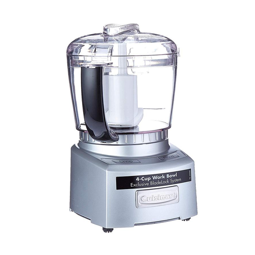 Cuisinart CGC-4PC3FR 4-Cup Mini Chopper Food Processor Silver (Certified Refurbished)