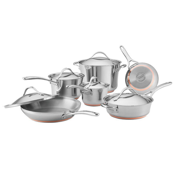 ANOLON 11-Piece Cookware Set, Stainless Steel
