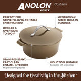 ANOLON 5-QT. Round Dutch Oven, Umber