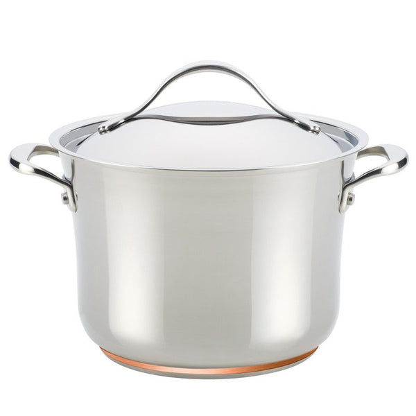ANOLON 6.5-QT. Covered Stockpot, Stainless Steel