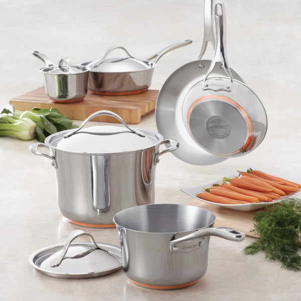 ANOLON 10-Piece Cookware Set, Stainless Steel