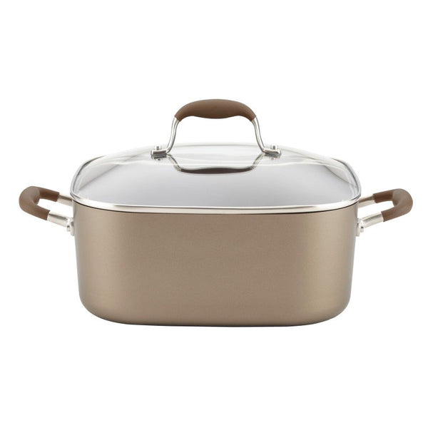 ANOLON 7-QT. Covered Square Dutch Oven, Bronze