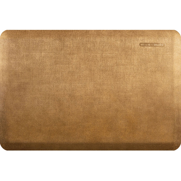 WellnessMats Estates Linen Anti-Fatigue Floor Mat - Aztec Gold