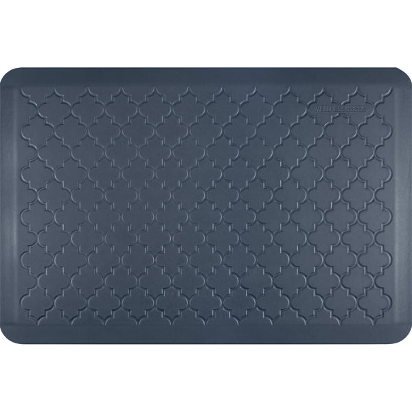 WellnessMats Estates Trellis Anti-Fatigue Floor Mat - Lagoon