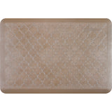 WellnessMats Estates Trellis Anti-Fatigue Floor Mat - Sandstone
