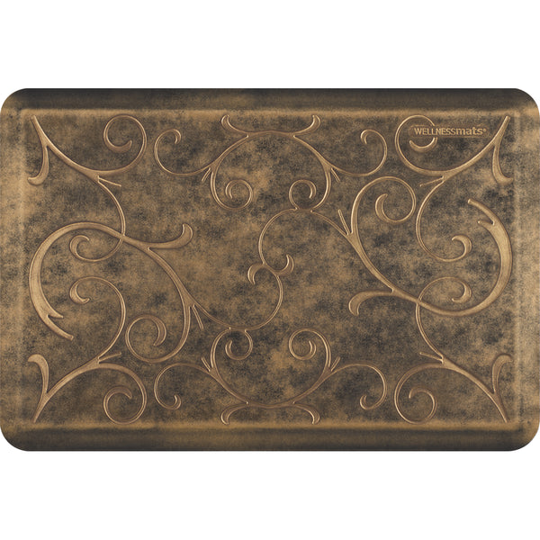 WellnessMats Estates Bella Anti-Fatigue Floor Mat Bronze