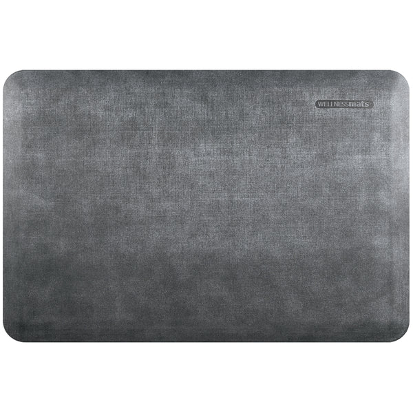 WellnessMats Estates Linen Anti-Fatigue Floor Mat - Slate