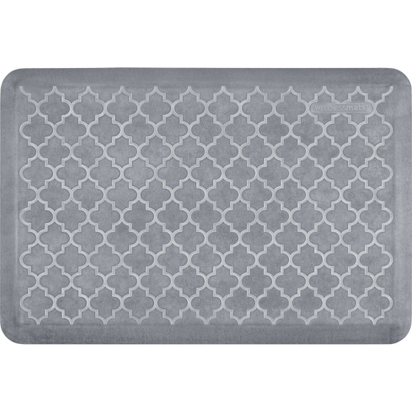 WellnessMats Estates Trellis Anti-Fatigue Floor Mat - Beach Glass