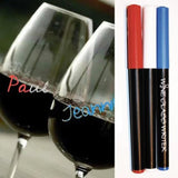 Corkpops 20777 Wine Glass Pens-Red, White & Blue