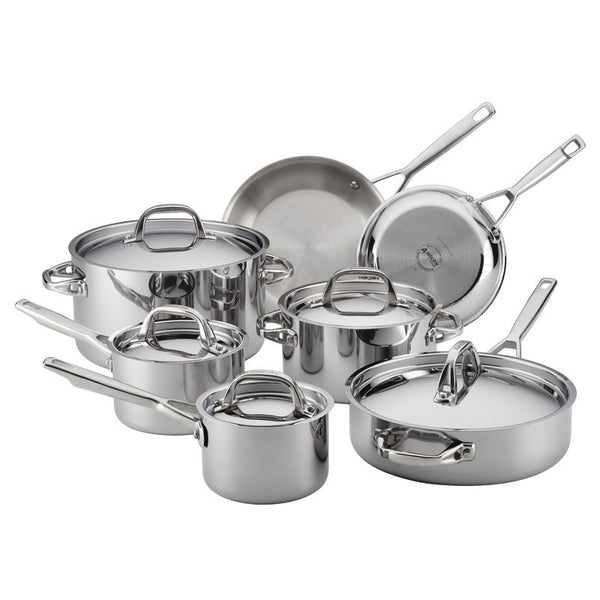 ANOLON 12-Piece Cookware Set, Stainless Steel