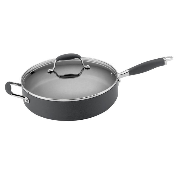 ANOLON 5-QT. Covered Saute' With Helper Handle, Gray