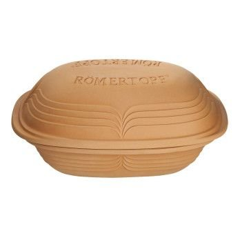 Romertopf Modern Series Natural Glazed Clay Cooker, 3.1-Quart