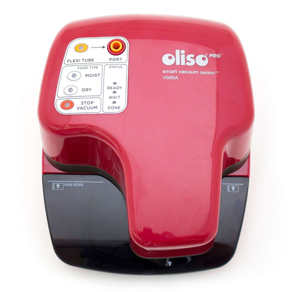 Oliso Pro VS95A (Red) Smart Vacuum Sealer Starter Kit