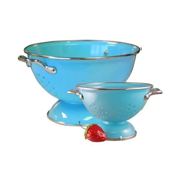 Calypso Basics Colander Set, 1qt and 3qt, Turquoise