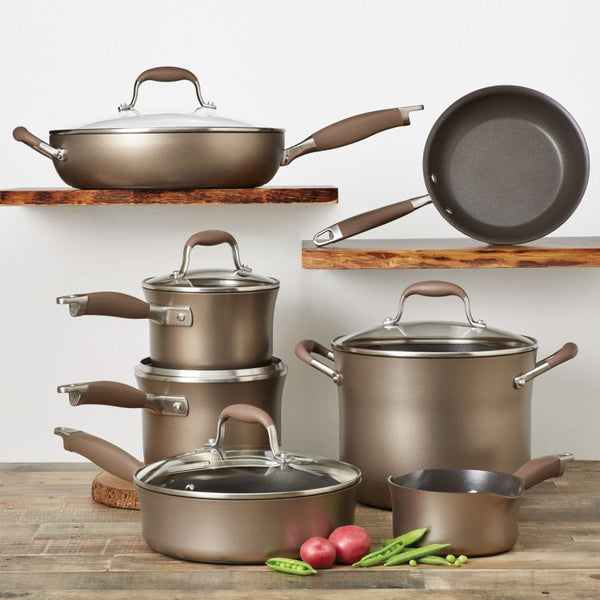 ANOLON 12-Piece Cookware Set, Bronze