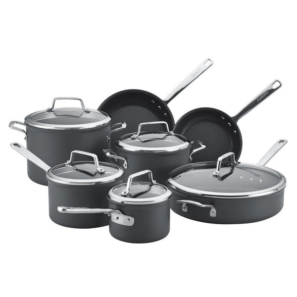 ANOLON 12-Piece Cookware Set, Gray