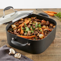 ANOLON 7-QT. Covered Square Dutch Oven, Graphite