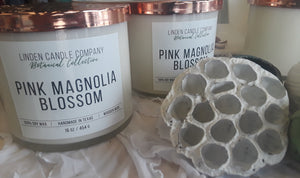 16oz Pink Magnolia Blossom Soy Candle