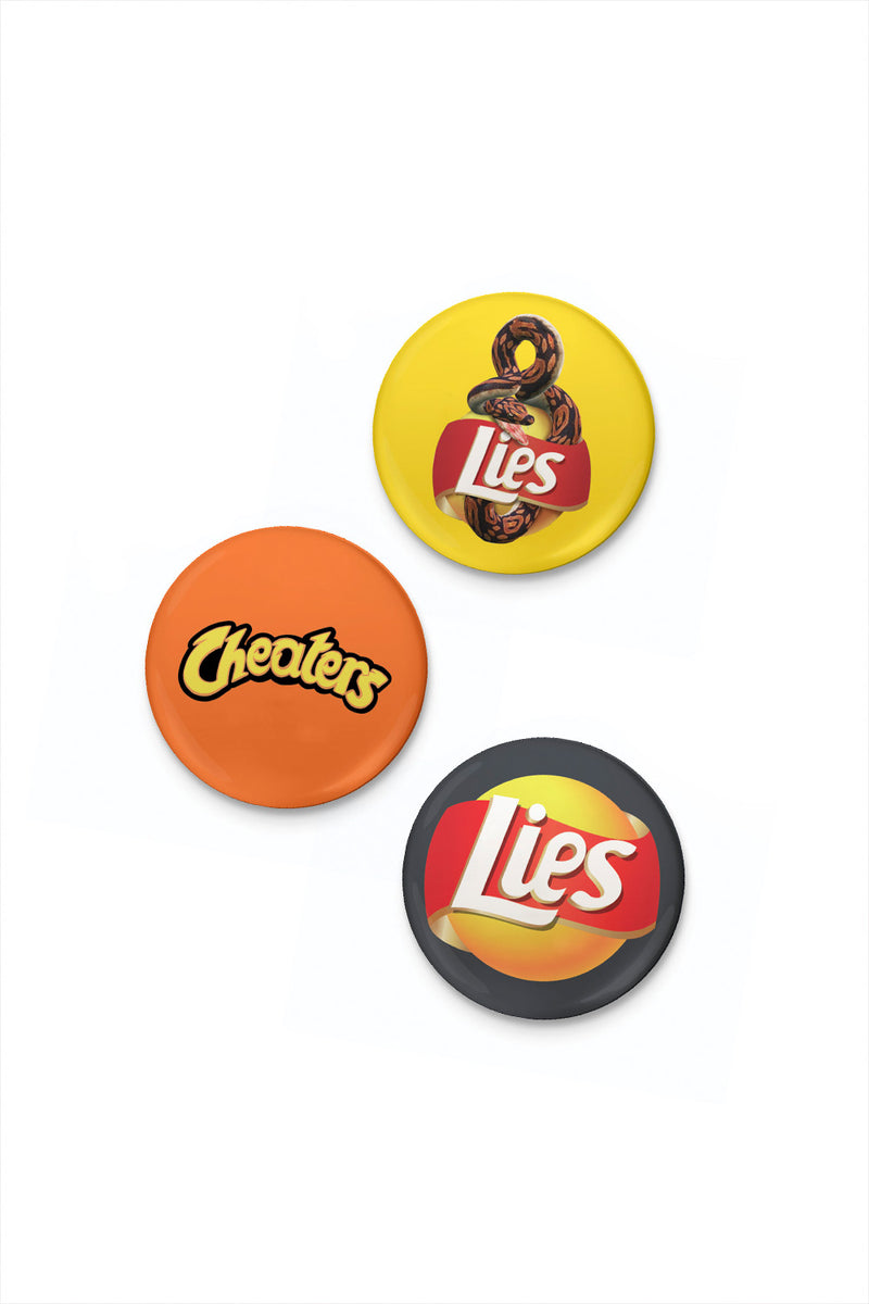 Potato chips Pin set