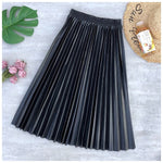 Neophil Ladies Black Midi Skirt