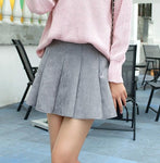 2021 Autumn Winter Mini Pleated Skirt