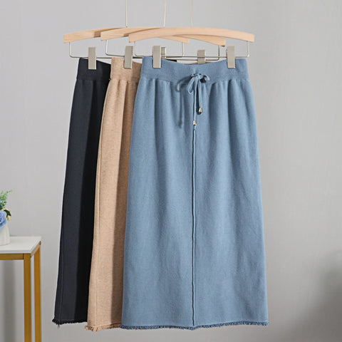 Autumn Winter Knit Women Skirt