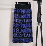 Women's Letter Knit Skirt