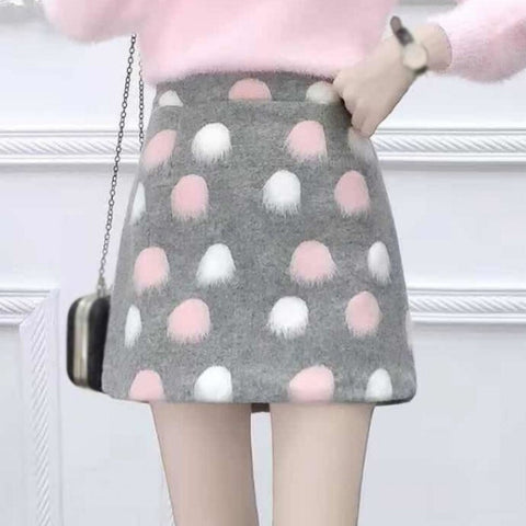 Woolen Skirt Female Autumn Winter Fashion Skirt