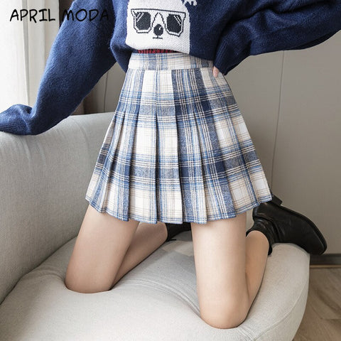 2020 Vintage New Winter Wool Mini Skirt