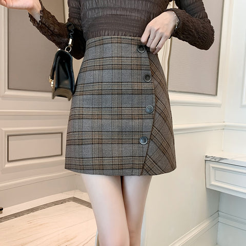 Short Retro Style A-line Slimming Mini Skirt