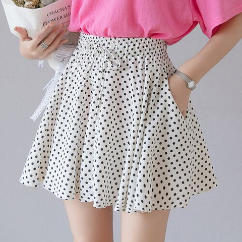 Bow Sexy Mini Chiffon Skirt