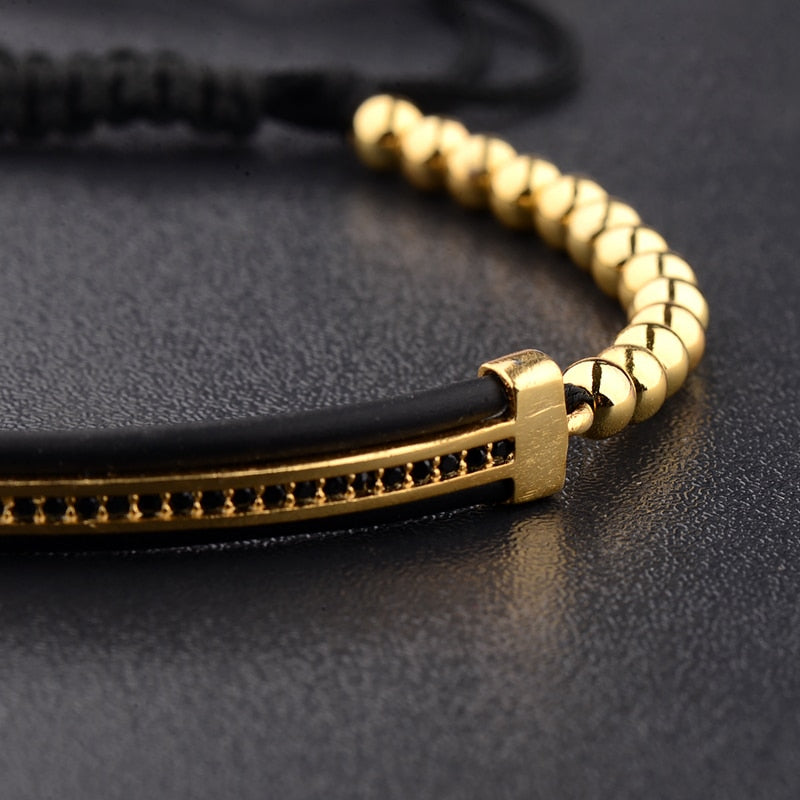 Luxury mens golden bracelet