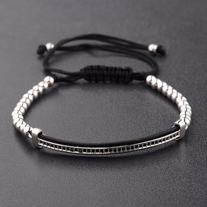 Luxury mens silver bracelet