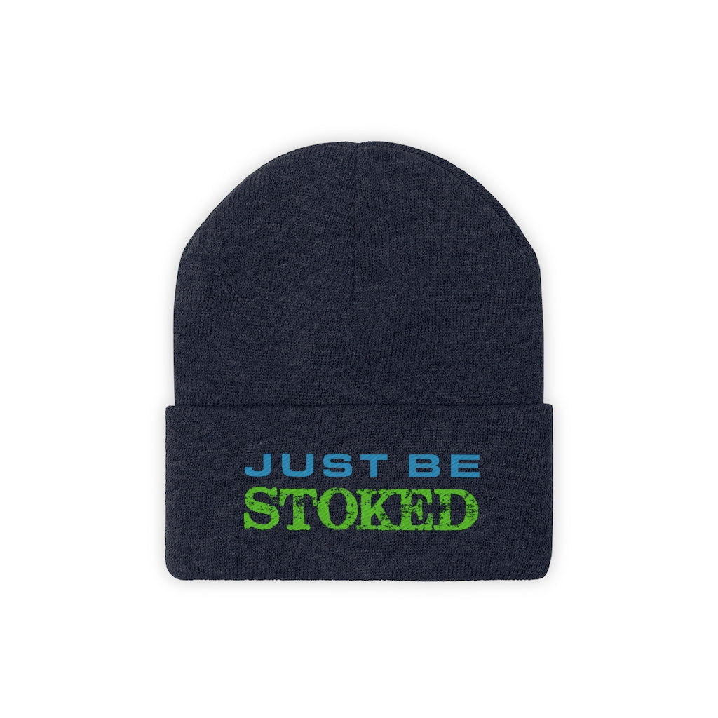 Just Be Stoked Knit Beanie