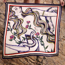 Load image into Gallery viewer, Astarte Phoenician Goddess - Satin Silk Scarf